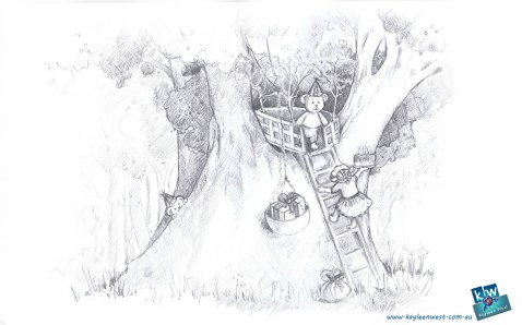 Pencil illustration sketch for 52 week illustration challenge - Tree