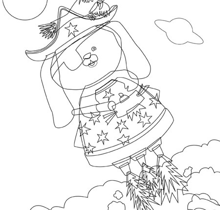 Step 2: Outline - Combining Illustrator and Photoshop tutorials: Space Pirate
