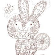 Free Colouring Pages: Kids colouring page - Patchwork Rabbit