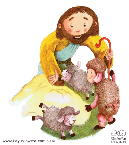 Children's illustration from ABC Christian picture book, We Worship God - Xist Publishing 2015 release