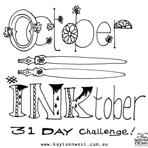 INKtober 2014. An inked sketch each day for the month of October. illustration #inktober