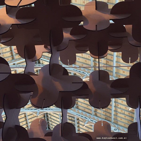 Supergraph paper arch installation