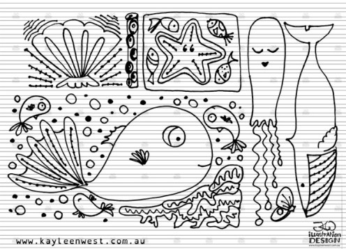 INKtober 2014. An inked sketch each day for the month of October. Under the sea theme for a surface design illustration. #inktober