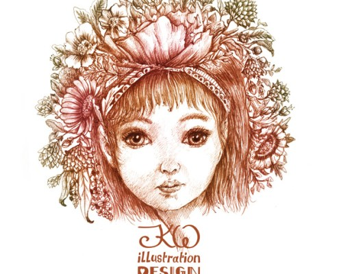 Editorial Fashion Illustration: Sweet Petite