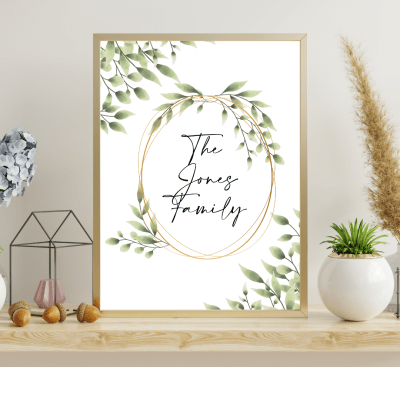 Botanical Family Name Print