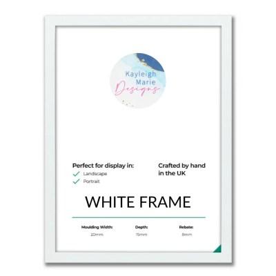 A2 White Frame