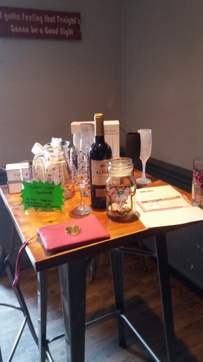 Raffle prizes at the Coffee Morning