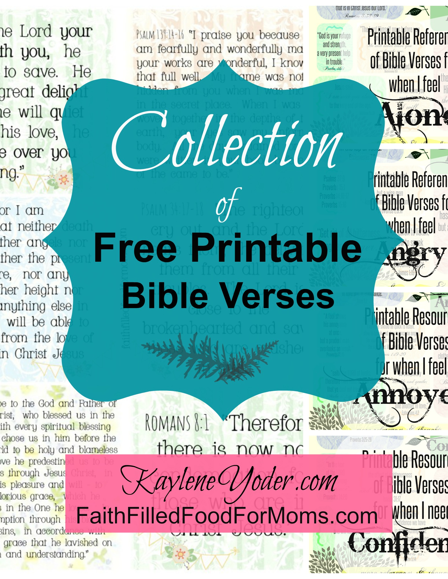 Collection Of Free Printable Bible Verses