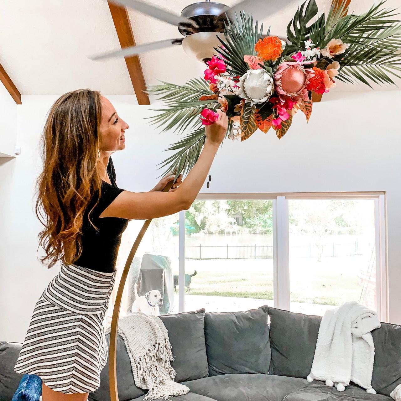 Tropical Wedding Arch Decor DIY