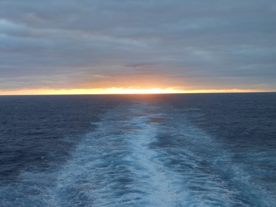 Sunset from the aft balcony