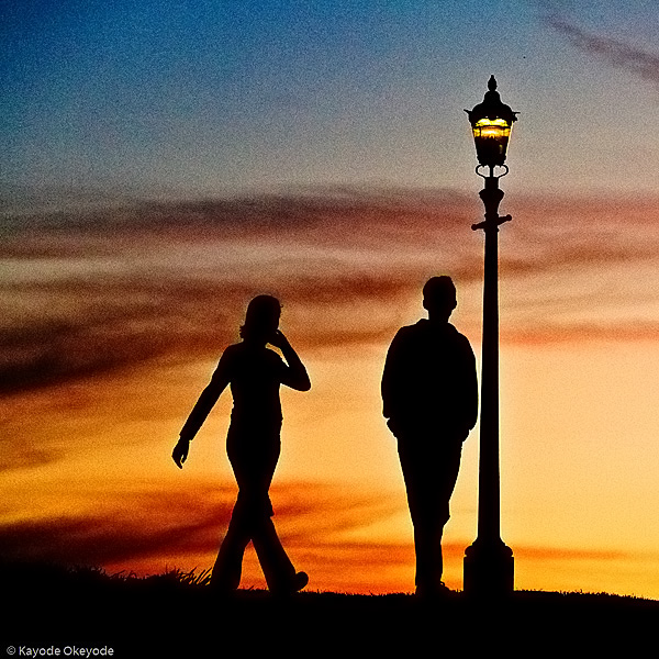 On top of the world (Primrose Hill at sunset)
