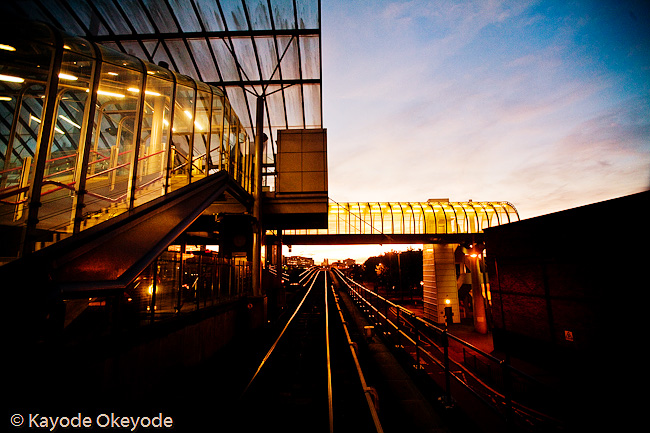 Docklands Light Railway Train Ride