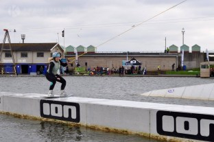 Competing in amateur wakeboarding in Brighton