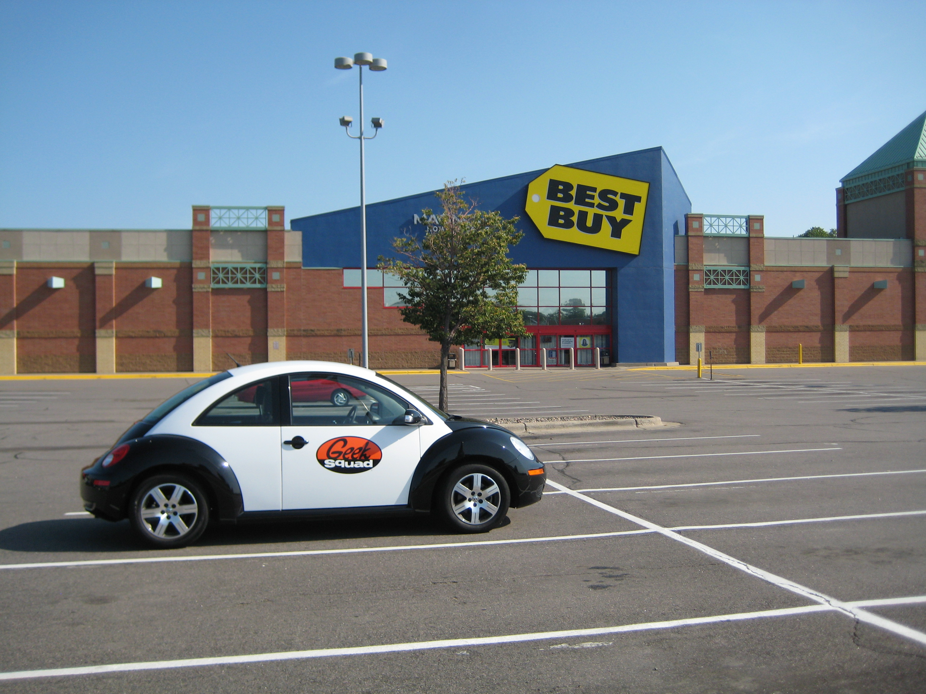 Best Buy:  Ya think they park the car here for the sheer Branding Power of Geekness?