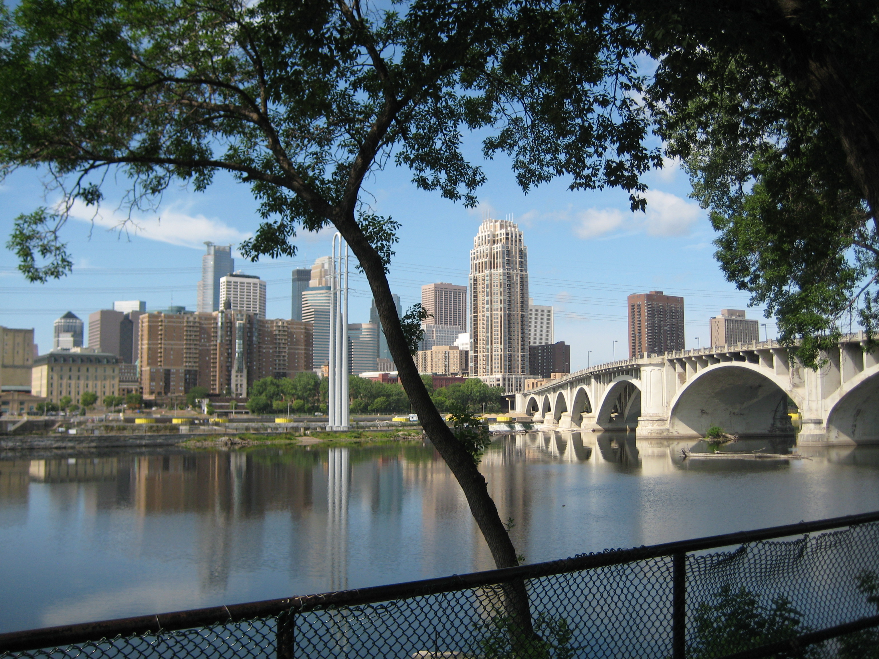 On the Minneapolis RiverFront, across from St. Anthony Main:   This River Rocks! (And the town ain't bad either....)