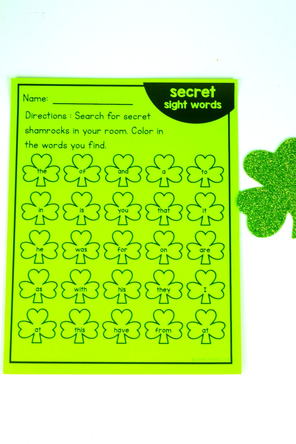 Printable Sight Word Games For St Patrick S Day