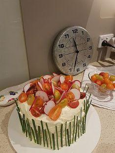 Savoury Birthday Cake
