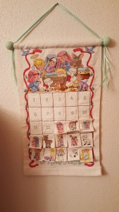 Advent calendar, take two. This is the one I grew up doing with my parents, and now I'm sharing it with my kids. :)