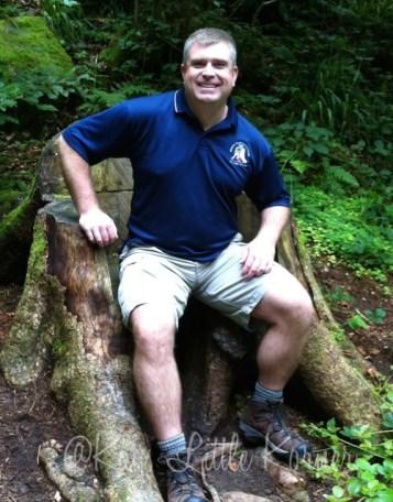 Ben's wooden throne
