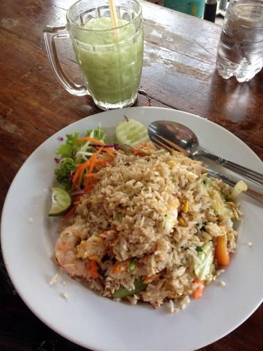 Fried Rice and Thai Green Tea