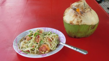 Spicy Pork Salad and Coconut