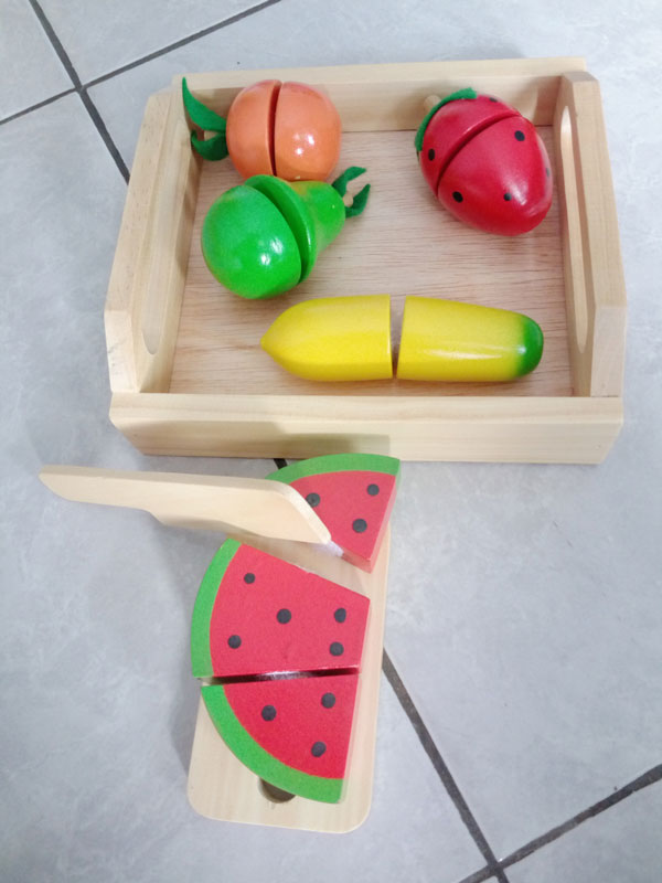 buah potong kayu seru - Buah Potong