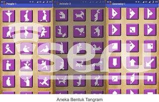 aneka bentuk tangram - Serunya Bermain Tangram