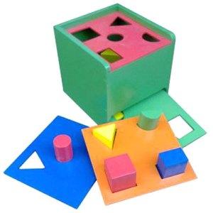 kotak bentuk 5 tray - Balok Kayu Natural, Produktifitas, Aktifitas dan Kreatifitas Anak