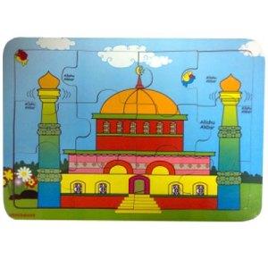 masjid - Balok Kayu Natural, Produktifitas, Aktifitas dan Kreatifitas Anak