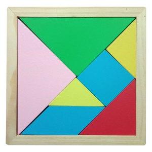 tangram kayu - Puzzle Tangram