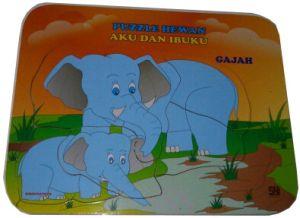 123 48 PuzzleAkuIbuku Gajah - Puzzle Aku dan Ibuku - Gajah