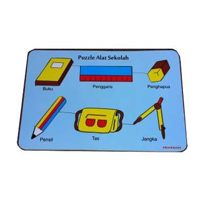 puzzle alat sekolah - [Best Seller] Aneka Puzzle Dapat 3 Pcs