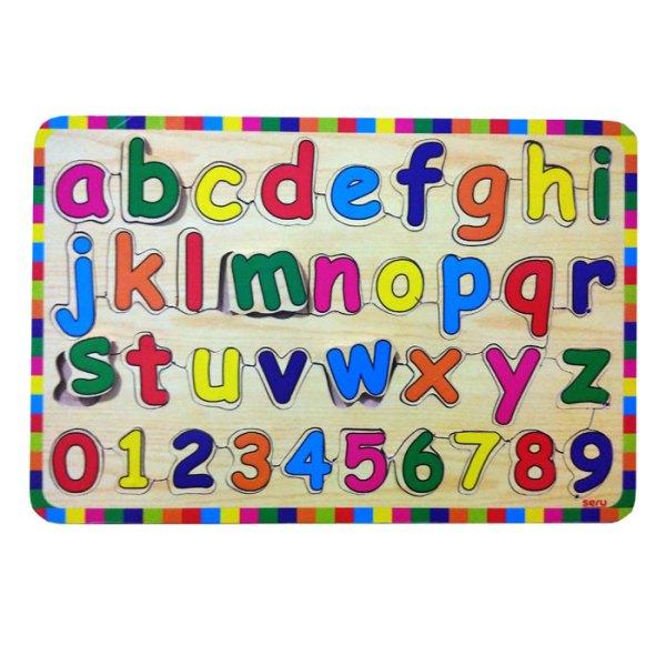 puzzle huruf kecil kayuseru - Paket Puzzle Murah isi 6