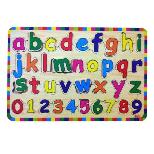 puzzle huruf kecil kayuseru - Balok Kayu Natural, Produktifitas, Aktifitas dan Kreatifitas Anak
