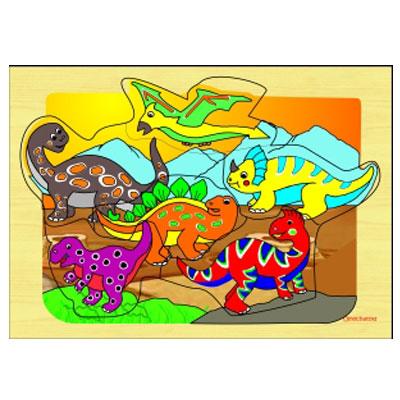 puzzle anak safari dino - [Best Seller] Aneka Puzzle Dapat 3 Pcs