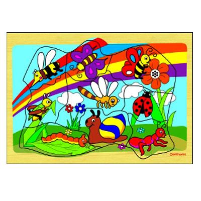 puzzle safari serangga - [Best Seller] Aneka Puzzle Dapat 3 Pcs