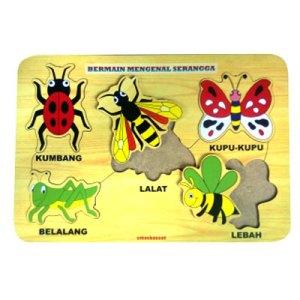 puzzle mengenal serangga - Plakat Untuk Wisuda Dari Kayu Untuk TK Dhian