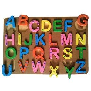 puzzle alfabet - Puzzle Alfabet Huruf Besar