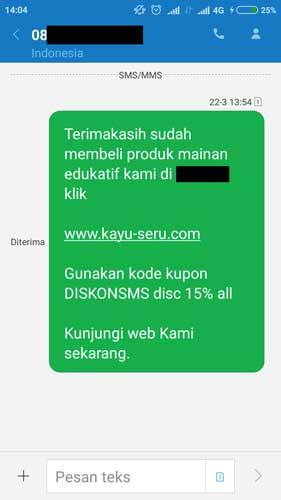 sms promosi - Naikan Branding Produk Dengan Memanfaatkan Marketplace