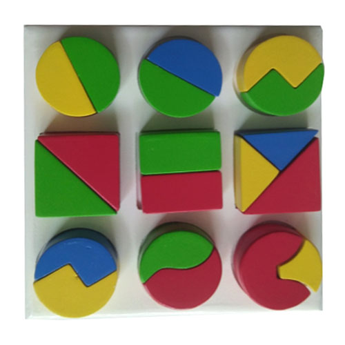 Puzzle Pecahan bentuk - Puzzle Pecahan Bentuk