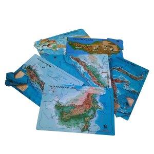 puzzle pulau indonesia - Membuat Plakat Wisuda TK Islam Asshafa
