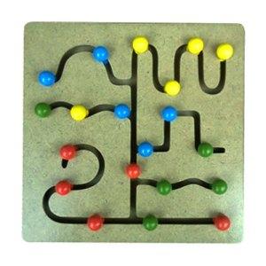Maze Tombol - Maze Tombol Bulat