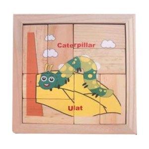 puzzle ulat balok - Membuat Plakat Wisuda TK Islam Asshafa