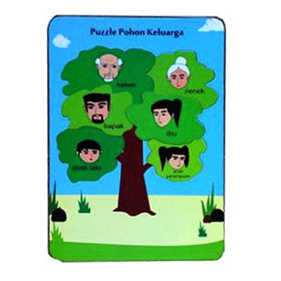 puzzle pohon keluarga - [Best Seller] Aneka Puzzle Dapat 3 Pcs