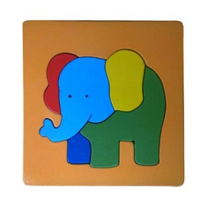 Puzzle Gajah Bingkai - Puzzle Bingkai Gajah - Cat