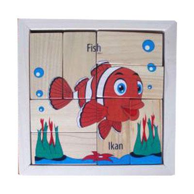 puzzle ikan balok - Puzzle Ikan - Balok