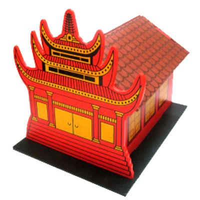 maket klenteng - Maket Rumah Ibadah Set