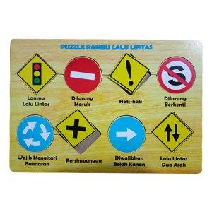 puzzle rambu lalulintas - Puzzle Rambu Lalu Lintas