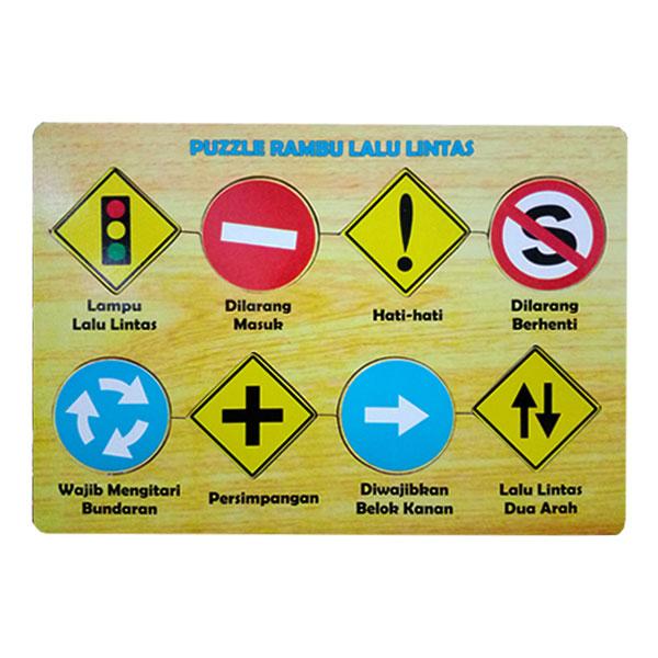 puzzle rambu rambu - Paket Puzzle Murah isi 6