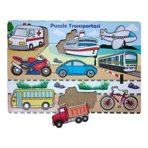 Puzzle Alat Transportasi - Membuat Mainan Edukatif Untuk Dikirim ke Singapura